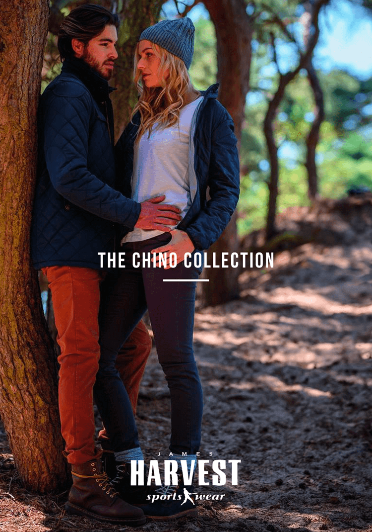 James Harvest Sportswear chino collection